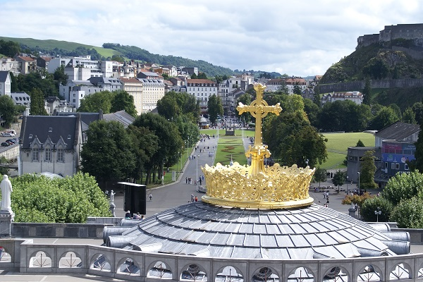 the Basilica of Our Lady of the Rosary of Lourdes