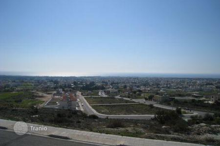 Development land for sale in Paphos. Elevated plot of land, unobstructed sea views — Konia