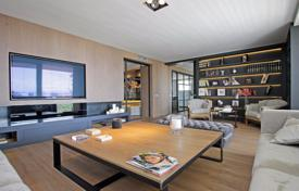 Luxury penthouses for sale in Barcelona. High-quality two-level penthouse with large terraces, a chill-out area and a pool in the district of Tres Torres, Barcelona, Spain