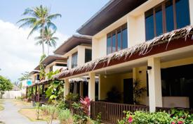 Townhouses for sale in Southeastern Asia. Townhouse in a residential complex surrounded by tropical vegetation and direct access to the beach in the area of Plai Laem