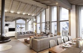Luxury 4 bedroom houses for sale in Auvergne-Rhône-Alpes. Four-storey chalet with balconies and a garden, next to the ski slopes, just 400 meters from the center of the resort, Courchevel, France