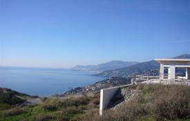 Residential for sale in Camporosso. Unfinished two-storey villa with a picturesque view of the sea and the coast of France, Camporosso, Liguria, Italy