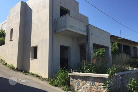 3 bedroom houses for sale in Crete. Buy unfinished townhouse in the village of Dramia, Chania, Crete