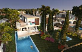 Luxury 4 bedroom houses for sale in Paphos. Elite villa with a terrace, a pool and a large plot, on the first line from the sea, Coral Bay, Paphos, Cyprus
