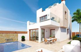 Houses with pools for sale in Pilar de la Horadada. New villa with a pool and a solarium with a sea view, 300 m away from the beach, Pilra de la Horadada, Spain