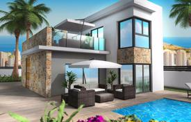 Houses with pools for sale in Finestrat. New villa in a modern style with a large pool and terrace, Finestrat, Costa Blanca, Spain