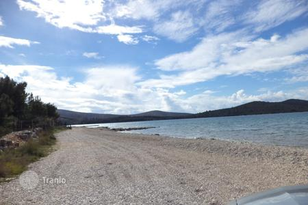 Coastal development land for sale in Sibenik-Knin. Building land first line from the sea