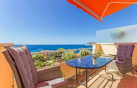1 bedroom apartments for sale in Balearic Islands. Penthouse with a terrace and a sea view in a residential complex with a swimming pool, a garden and a parking, Costa de la Calma, Spain