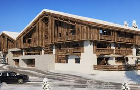 4 bedroom apartments for sale in Auvergne-Rhône-Alpes. Penthouse with a balcony, in a new residence, on a ski slope, 5 minutes drive from the center of Megeve, France