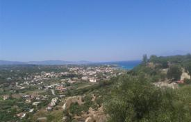 Coastal development land for sale in Zakinthos. Land of 14,000sqm, within the village plans, even, buildable, with sea view is for sale
