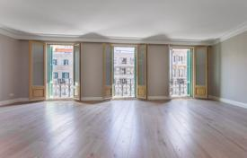 Luxury apartments for sale in Barcelona. Renovated apartment with three balconies overlooking the historic square in the city center, Barcelona, Spain