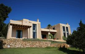 Residential for sale in Ibiza. Designer furnished villa with a garden and a pool, near the beach, in Es Cubells, Ibiza, Spain
