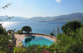 Houses for sale in Porto Rafti. Sea view villa in a prestigious residential complex with a helicopter platform, a pool, a restaurant and a cinema, Porto Rafti, Greece