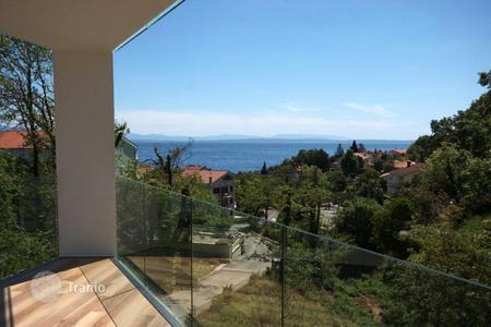 "2 bedroom apartments for sale in Primorje-Gorski Kotar County. Spacious apartment with panoramic sea views in the new building of ""lux"" class in respectable resort Icici, Opatija"