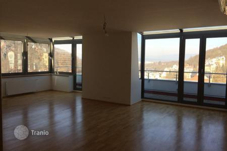 New homes for sale in Karlovy Vary Region. Apartment with a large terrace and a view of the city center, in a new residence with an underground parking, Karlovy Vary, Czech Republic