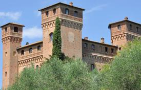 Beautiful castle with views the hills of Tuscany, Siena, Italy. Price on request