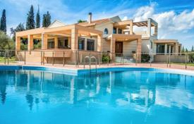 Villas and houses to rent in Zakinthos. This elegant villa is located in the picturesque village of Machairado in central Zakynthos, The great villa of 350 sq. m invites y