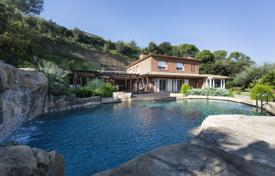 Luxury houses for sale in Vallromanes. Unique villa on a spacious plot with a nature reserve and a swimming pool, Vallromanes, Spain