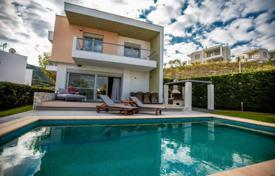 Houses with pools for sale overseas. New villa with a pool, a garden and a sea view on the peninsula of Kassandra, Halkidiki