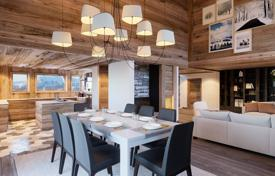 Luxury chalets for sale in Alps. Two-storey chalet with terraces and balconies, in a new residence, on a ski slope, 5 minutes drive from the center of Megeve, France