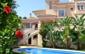 Townhouses for sale in Manilva. Sea and mountain views townhouse with private garden and terrace, in Manilva, Malaga, Spain