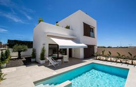 Cheap houses with pools for sale in Valencia. Modern Detached Villa in La Marina Urbanization