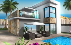 Houses with pools for sale in Finestrat. Two-level villa with a pool in a new complex, Finestrat, Alicante, Spain