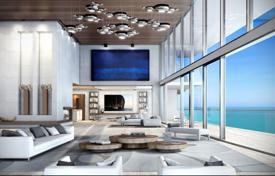 Three-storey penthouse with a rooftop pool, a SPA-complex and terraces with ocean views, in an elite residence in Miami, USA. Price on request