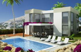 Coastal residential for sale in Cumbre. 3 bedroom luxury stylle villas with private pool and garden in Benitachell