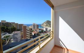 1 bedroom apartments by the sea for sale overseas. Sea view one-bedroom apartment with a terrace, in a residence with a swimming pool, at 400 meters from the beach, Benidorm, Spain