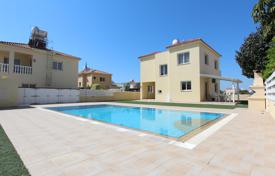 Houses with pools for sale in Ayia Napa. Furnished seaview cottage with two balconies, a garden, a pool and a parking, Ayia Thekla, Famagusta. High rental potential!