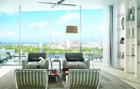 2 bedroom apartments for sale in North America. Apartment with two terraces and views of the ocean and the city in a residence with a landscaped park and a private dock, Fort Lauderdale