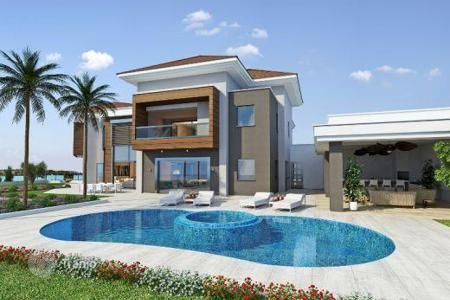 Houses for sale in Agios Tychon. Brand New Luxury 6 Bedroom Villa, Sea Views — Completion November 2015