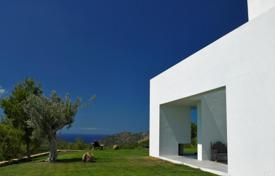 Luxury villas and houses for rent with swimming pools in Ibiza. Villa with roof terrace, panoramic sea views, surrounded by forest and a large garden, near the beach and the city center of San Juan, Ibiza