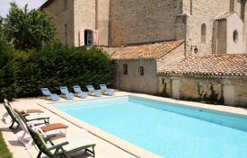 Luxury chateaux for sale in France. Medieval castle with a garden, surrounded by vineyards, Hérault, France