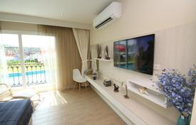 Condos for rent in Chonburi. Studio in a residential complex with children's playgrouns and a jacuzzi, at 400 meters from the sea, in Jomtien disrict, Pattaya, Thailand