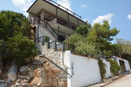 Residential for sale in Peloponnese. Three levels villa with panoramic sea view, garden and garage, in Peloponnese, Greece