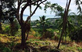 Development land for sale in Thailand. The site overlooks the bay near Bophut