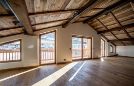 New homes for sale in Haute-Savoie. Two-level apartment with balconies, in a new residence, 200 meters from the slopes, Megeve, Alps