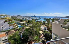 Apartments with pools for sale in Balearic Islands. Two-bedroom furnished penthouse with a view of the port, on the first line from the sea, Ibiza, Balearic Islands, Spain