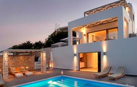 Luxury 6 bedroom houses for sale in Administration of the Peloponnese, Western Greece and the Ionian Islands. New villa with a panoramic sea view, Sofiko, Peloponnese, Greece. Furnished house in minimalist style, at 100 meters from the beach