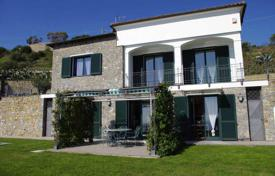 Modern villa in San Remo, Italy. Picturesque garden, swimming pool, garage, view of the sea and the city for 1,600,000 €