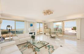Luxury apartments with pools for sale in Côte d'Azur (French Riviera). Modern penthouse with two terraces, a pool and sea views in an elite residence, Le Cannet, French Riviera, France