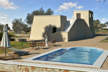 Off-plan houses for sale in Europe. Land with approved project of villa, Salve, Italy