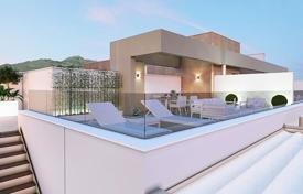 New homes for sale in Mijas. Spacious apartment with sea views in a new gated residence with a swimming pool, a garden and a parking, close to the beach, Mijas, Spain