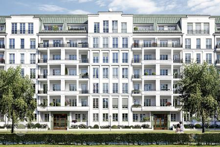 Luxury 1 bedroom apartments for sale in Germany. Penthouse with a rooftop terrace and a balcony in a new residential complex near the park and the Kurfuerstendamm, Berlin, Germany