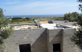 Houses for sale in Apulia. Newbuilt villa of a classic architecture with sea views and a garden near the beach, Salve, Italy