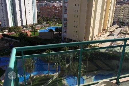 2 bedroom apartments by the sea for sale in Valencia. Furnished apartment with terrace, in a residence with swimming pool, just 400 meters from the beach, in Benidorm, Spain