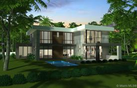 Modern villa with a backyard, a swimming pool, a relaxation area, a terrace and a parking, Miami, USA for $3,199,000