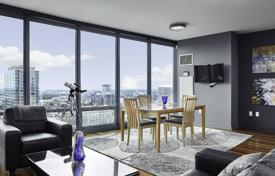 Stylish apartment with a panoramic windows in a modern condominium, Philadelphia, Pennsylvania, USA for $575,000